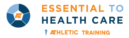 Athletic Training is Essential to Healthcare Logo