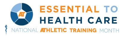 Athletic Training Month Logo