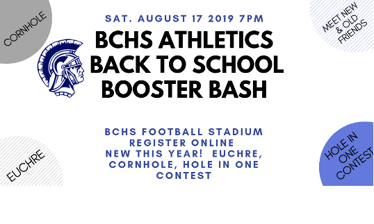 Have fun with old friends and new! Join us at the Booster Bash on Aug. 17. Online ticket sales are open.