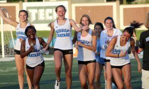 Girls from Track Team running