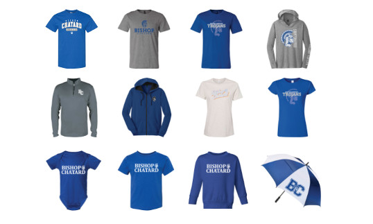 Order our new Spring Spiritwear items from the comfort of your home!